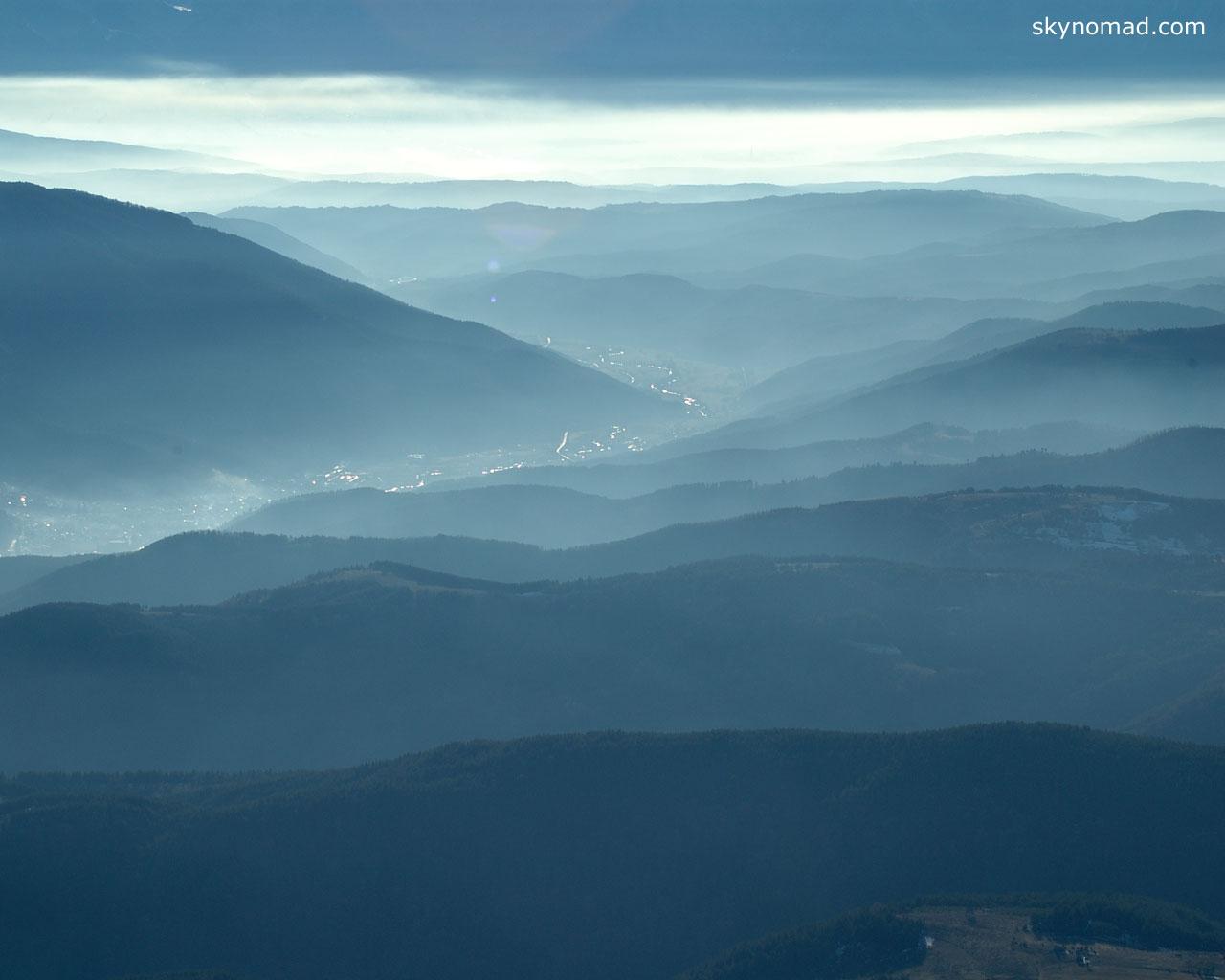 Aerial Bulgaria Autumn Mountain Wallpaper